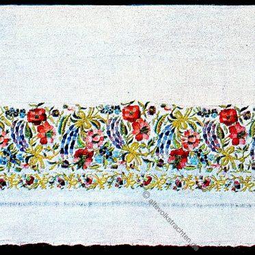 Handtücher mit Seide und Goldstickereien aus Makedonien