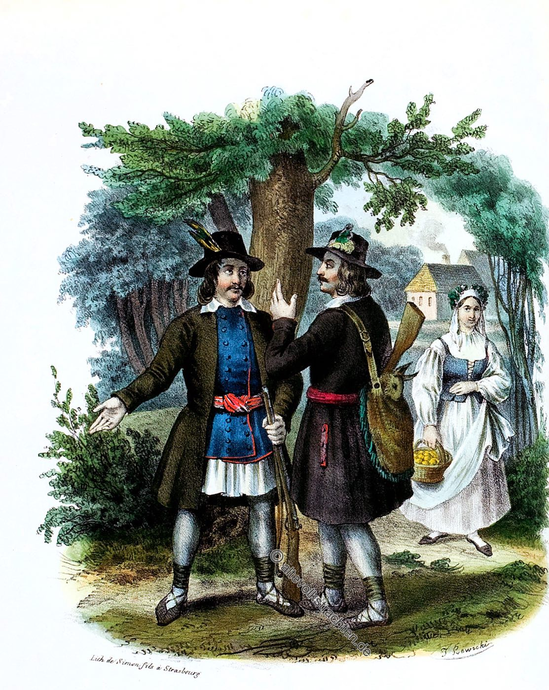 Trachten, Polen, Kurpie, Ostrolenka, Ostrołęka, Kurpengau, Kurpie, Scharfenwiese,
