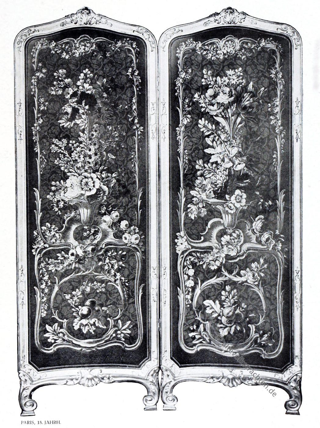 Gobelin, Barock, Möbel, Paravent, Kunsthistorie, Gobelinsammlung, Gobelins, 18. Jahrhundert,