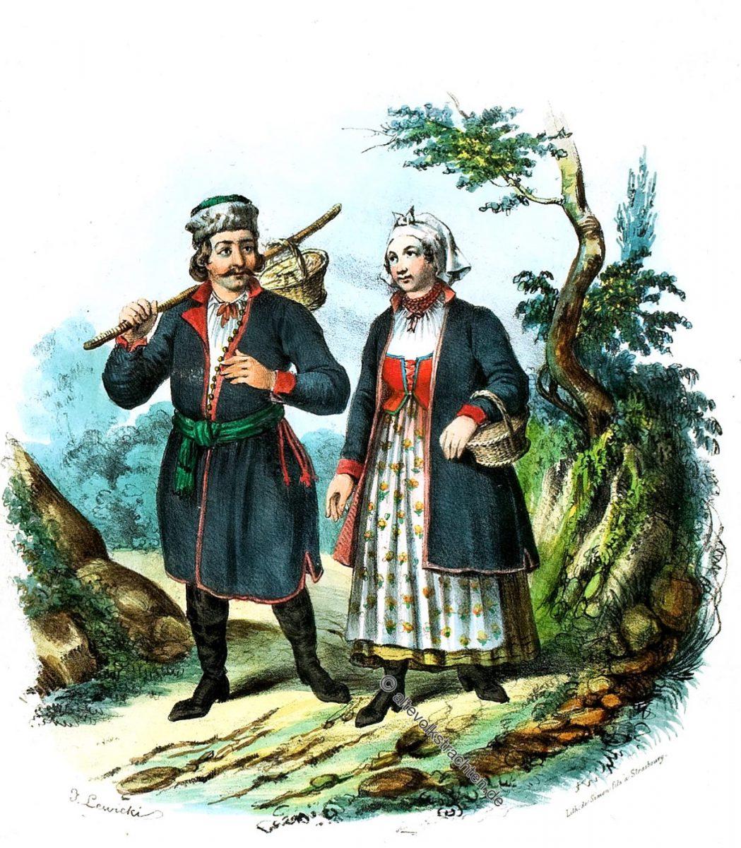 KIJACY, Podgórze, Podgórza, polen, Trachten, Bauerntrachten, Kostüme, Landleute