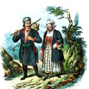 KIJACY. Polnische Landleute aus der Gegend von Podgórze