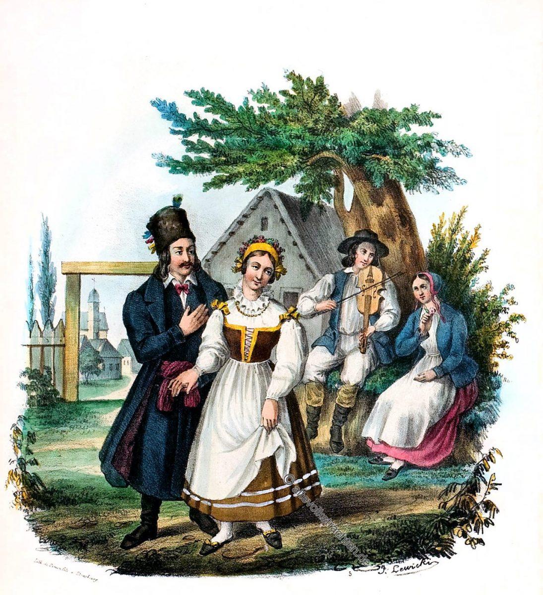 Posen, Poznań, Wielkopolanie, Trachten, Polen, Kostüme, Polonais, Poland,