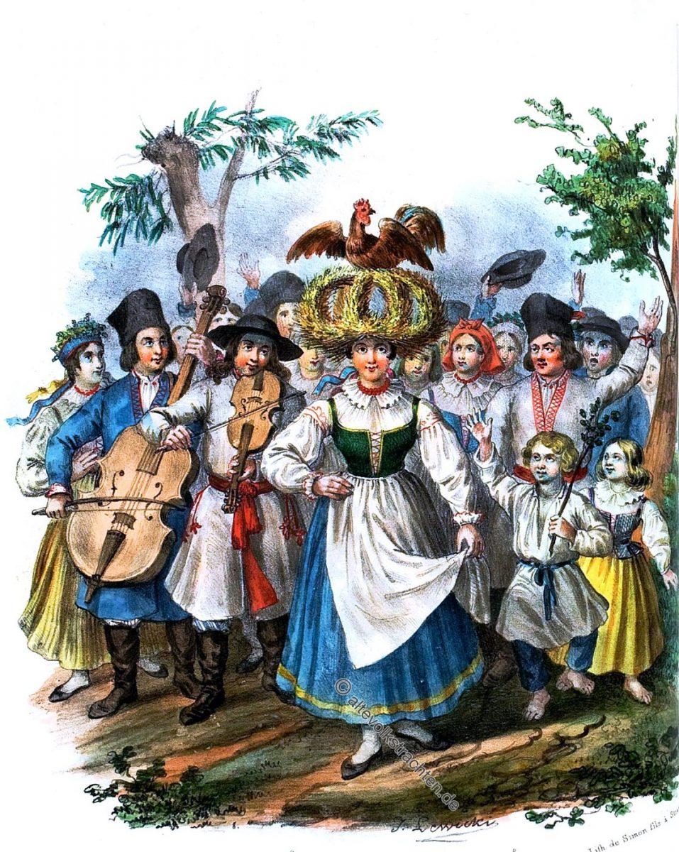 Trachten, Polen, Erntefest, Sandomierz, Kostüm, costume, Sandomir, Poland, OkrÄ�żne, Sandomirskiém