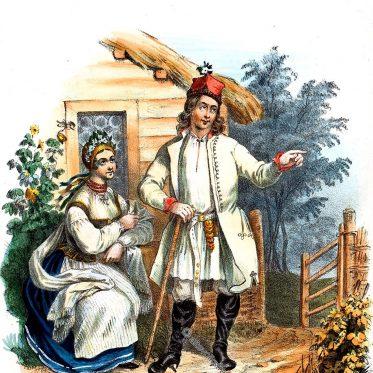 Proszowiacy. Polnische Landleute aus der Gegend von Proszów.