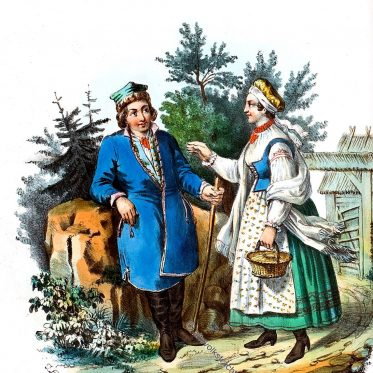 Polnische Landleute aus der Gegend von Skawina
