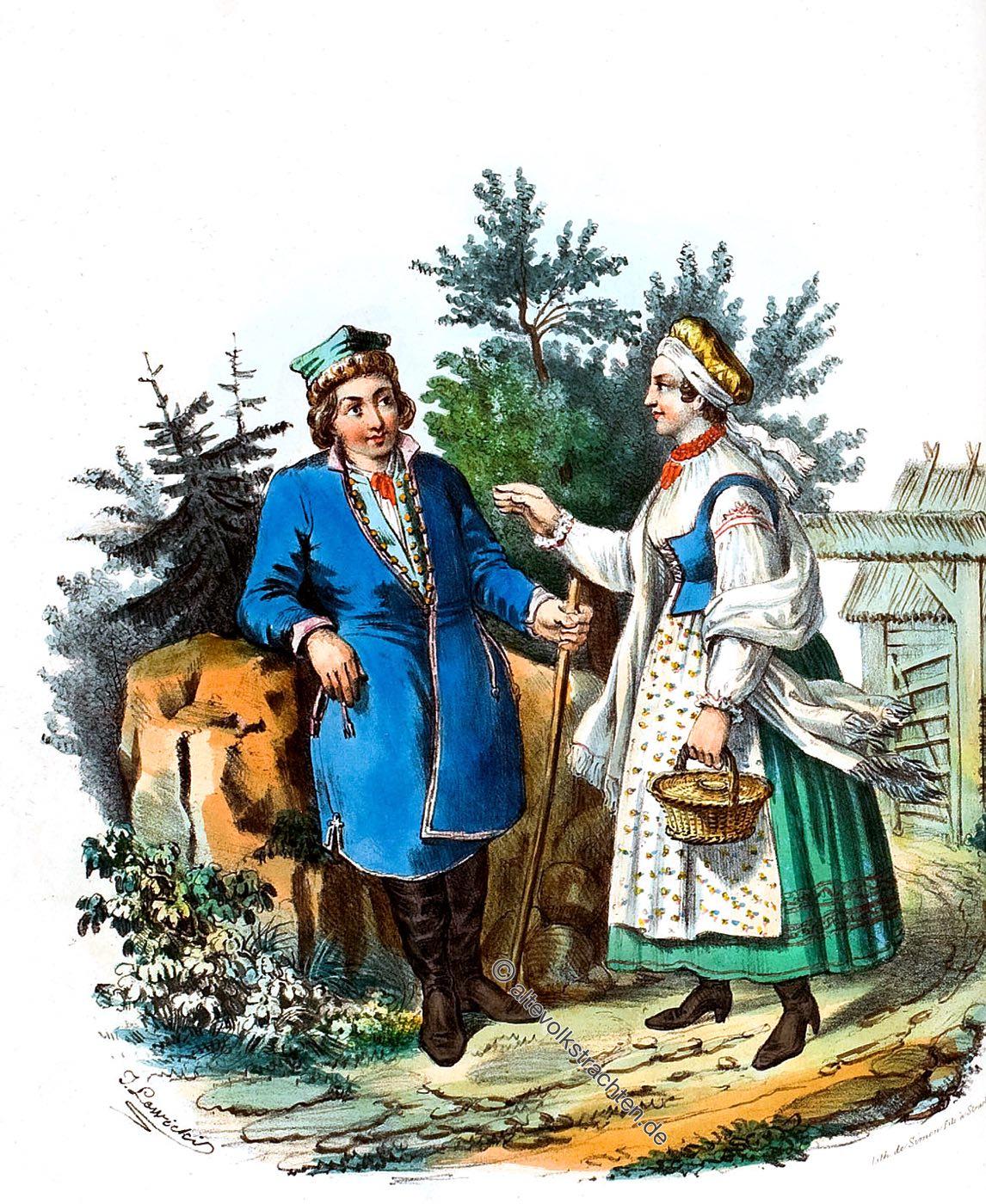 Skawina, SKAWINIACY, Trachten, Polen, Landleute, Bauerntrachten