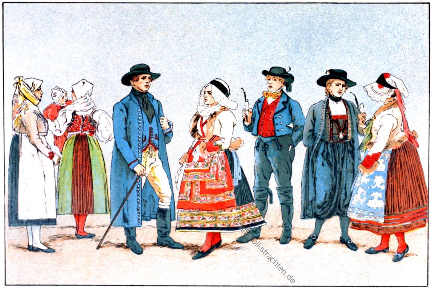 Volkstrachten, Trachten, Böhmen, Tschechien, Choden, Egerland, Pilsen, Adolf Rosenberg, Eduard Heyck