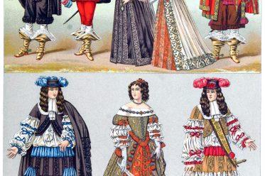 Barock, Mode, Kostüme, Adel, Frankreich, Louis XIV, Kostümgeschichte, Auguste Racinet