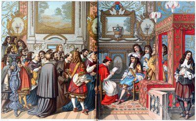 Ludwig XIV., Staatstrachten, Frankreich, Barock, Gobelin, Auguste Racinet, Lebrun