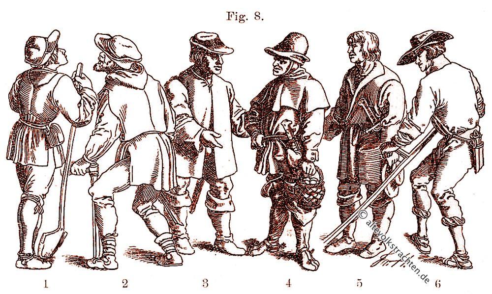 Schaube, Bauerntrachten, Renaissance, Friedrich Hottenroth
