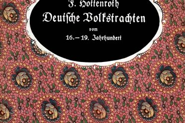Friedrich Hottenroth, Deutsche, Volkstrachten, Buchcover, Buch, Kostümgeschichte