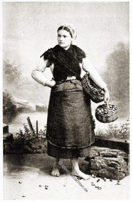 Douarnenez, Bretagne, Brittany, Trachten, Sabine Baring-Gould,