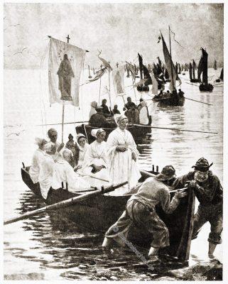 Anne d'Auray, Grand Pardon, St. Anna, Fouesnant, Bretagne, Brittany, Sabine Baring-Gould,