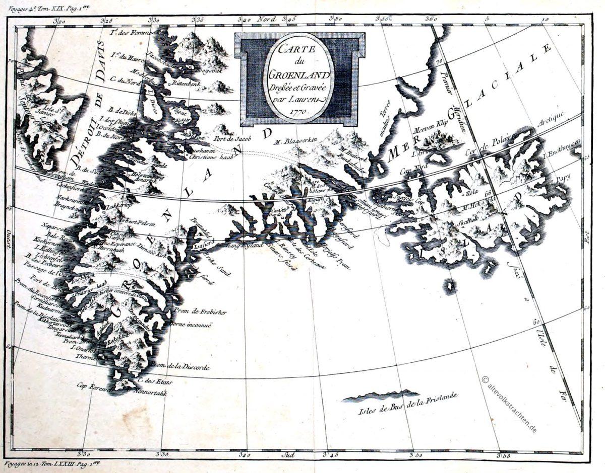 Grönland, Greenland, Groenland, Carte, Map, Greenland, Laurent