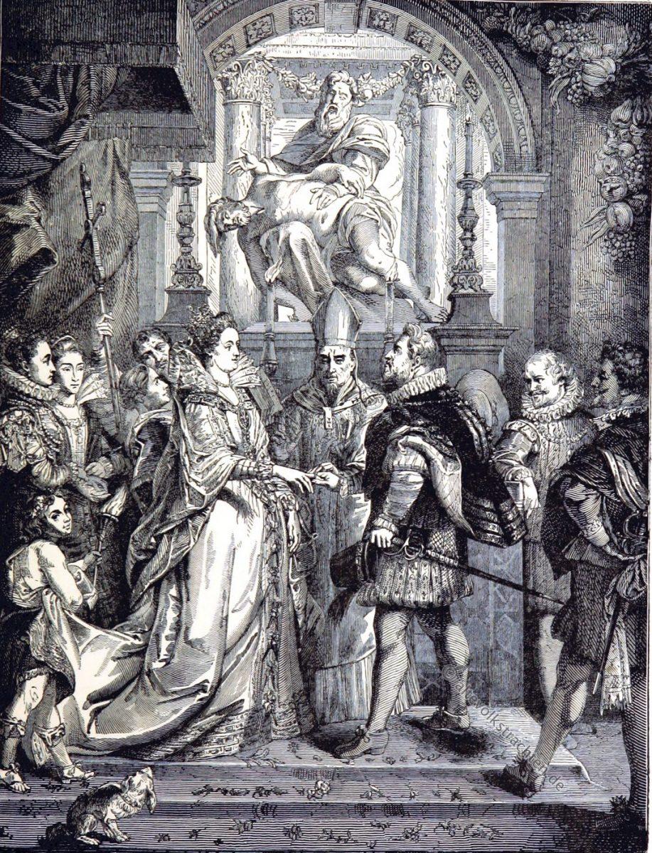 Hochzeit, Heinrich IV, Marie de Médicis, Rubens, Mariage,