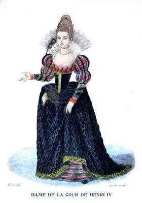 Hofdame, Frankreich, Renaissance, Barock, Kostüm, Heinrich IV, 17. Jahrhundert