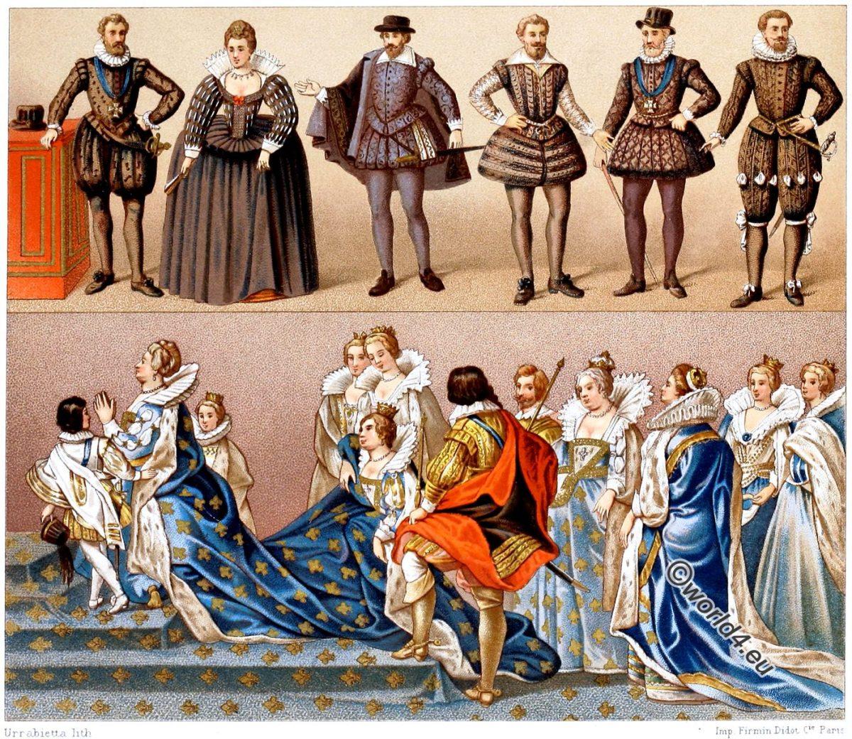 Kostümgeschichte, Renaissance, Barock, Heinrich IV, Maria von Medicis, Kostüme,