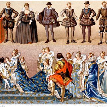 Hoftoiletten des französischen Adels im 16. und 17. Jh.