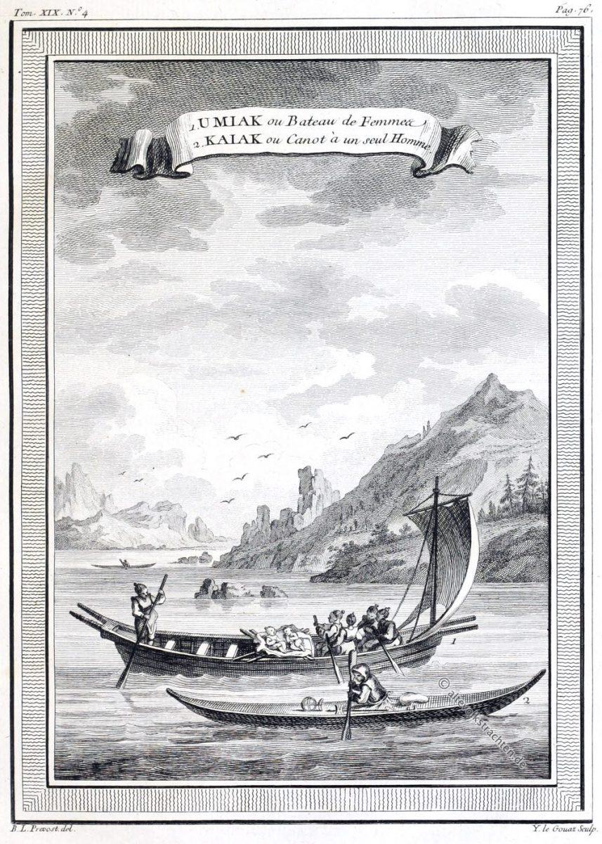 Kajak, Qajaq, Paddelboot, Grönland, Kanu, Umiak, Bateau, Canot, Kaiak