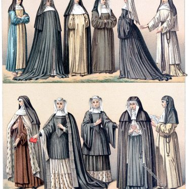 Nonnen. Trachten religiöser Orden im 19. Jahrhundert.