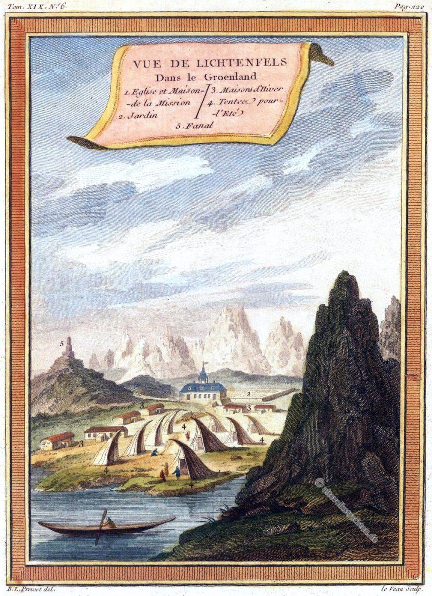Lichtenfels, Greenland, Akunnat, Grönland, Groenland, PREVOST ABBÉ,