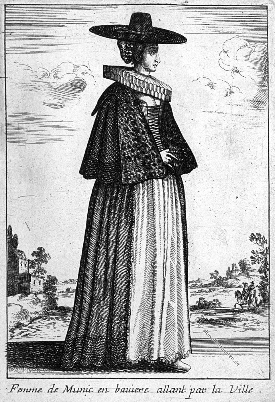 Václav Hollar, Wenzel Hollar, München, Barock, Kostüm, Bayern, Baltazar Moncornet, Kupferstich