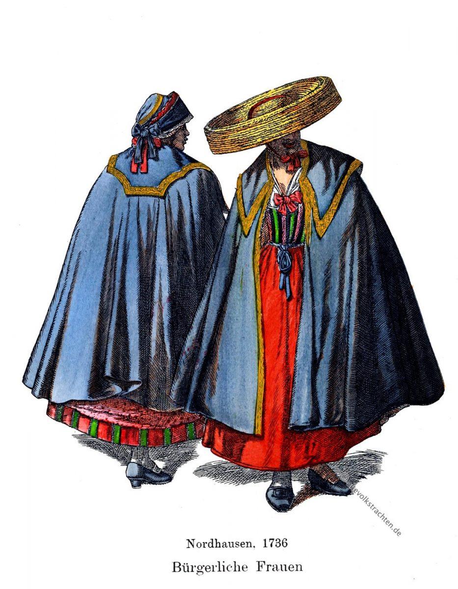 Barock, Mode, Kostüme, Thüringen, 18. Jh, Nordhausen, Friedrich Hottenroth