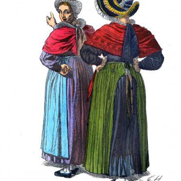 Bauersleute aus der Umgebung von Osnabrück, 1840.