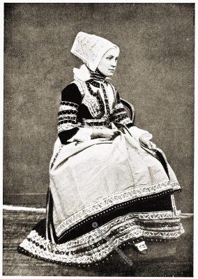 Ploaré, Bäuerin, Bretagne, Brittany, Trachten, Sabine Baring-Gould,
