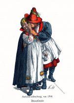 Sachsen-Altenburg, Thüringen, Brautleute, Trachten, Kostüme, Friedrich Hottenroth