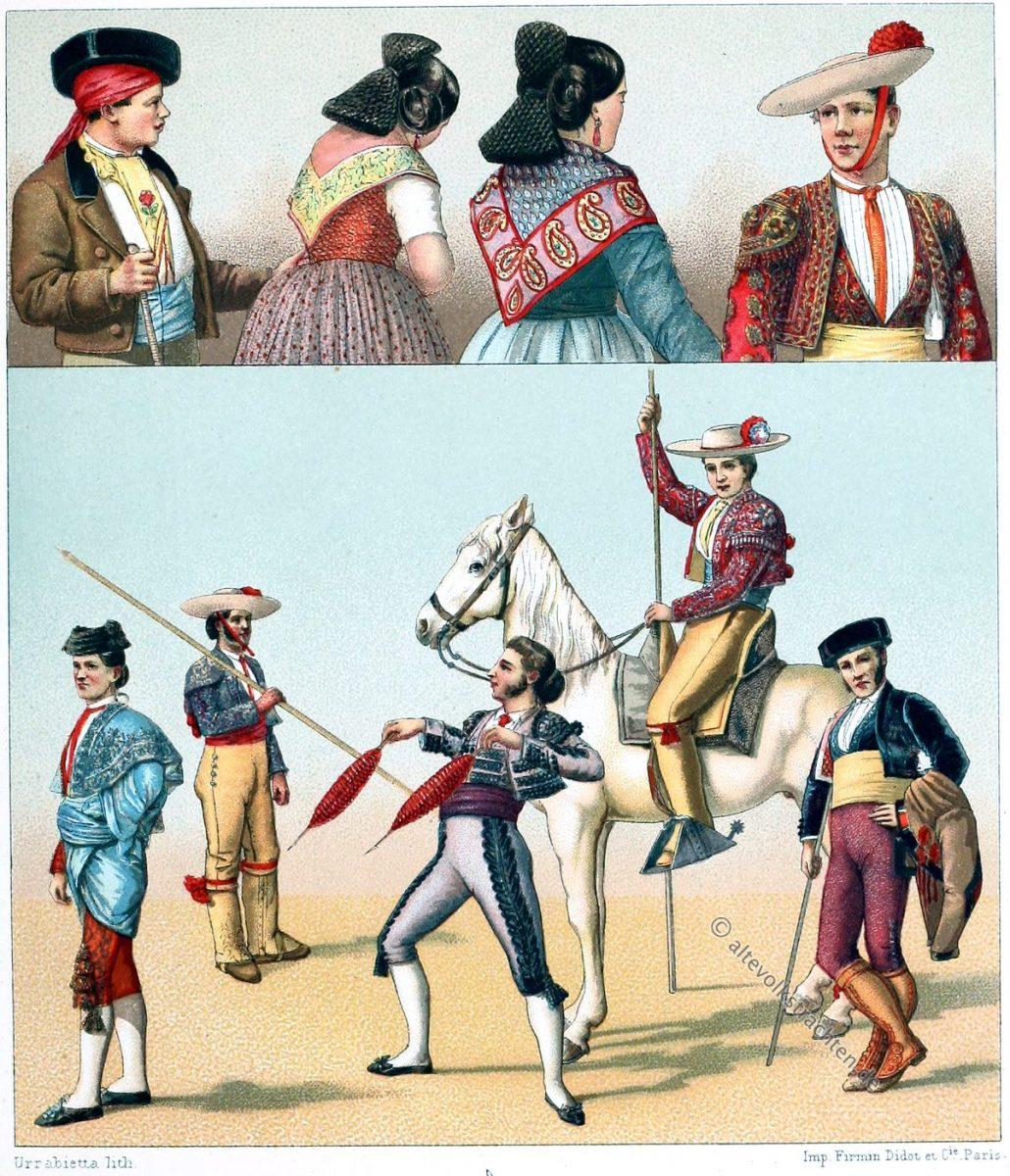 Torero, Picadores, Cuadrilla, Picador, Banderilleros, Palillos, Zarcillos, Rehiletes, Chulo, Gitano, Capeador