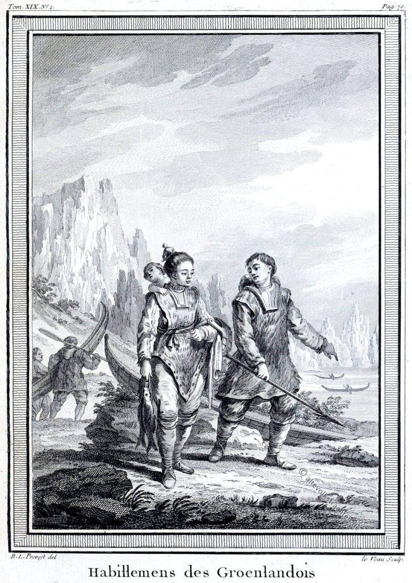 Trachten, Grönland, Kleidung, Habillemens, Groenlandois, Greenland, clothing,