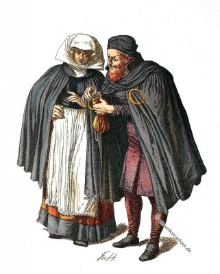 Juden, Kleidung, Kostüm, Mittelalter, Renaissance, Friedrich Hottenroth,