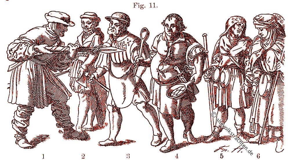 Wams, Handwerker, Pilger, Zimmermann, Trachten, Friedrich Hottenroth,