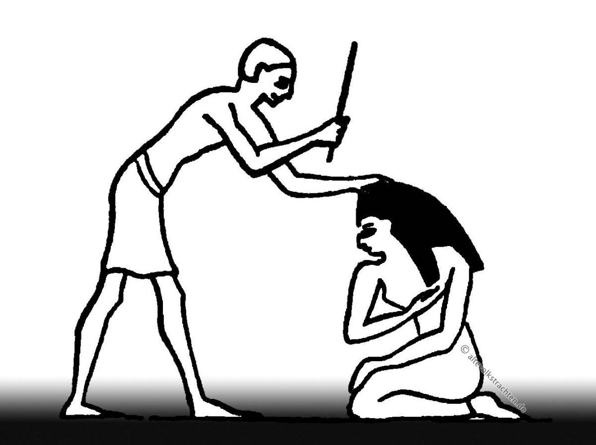 Bestrafung, Schläge, Geißelung, Ägypten, Isisfest, Priester