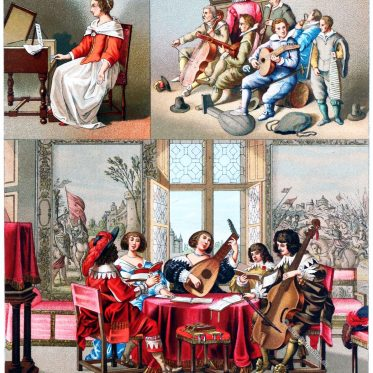 Mode in Frankreich und Flandern im Barock. 17. Jahrhundert.