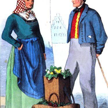 Bauersleute aus der Umgebung von Lüneburg.