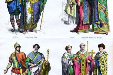 Byzantinischer Kaiser, Kaiserin, Prinzessin, Edelknabe, Krieger, Diakon, Bischof, Levite, Dienerin