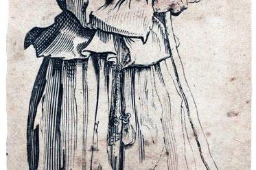 Jacques Callot, Bettlerin, 17. Jahrhundert, Barock, Kupferstecher, Radierung