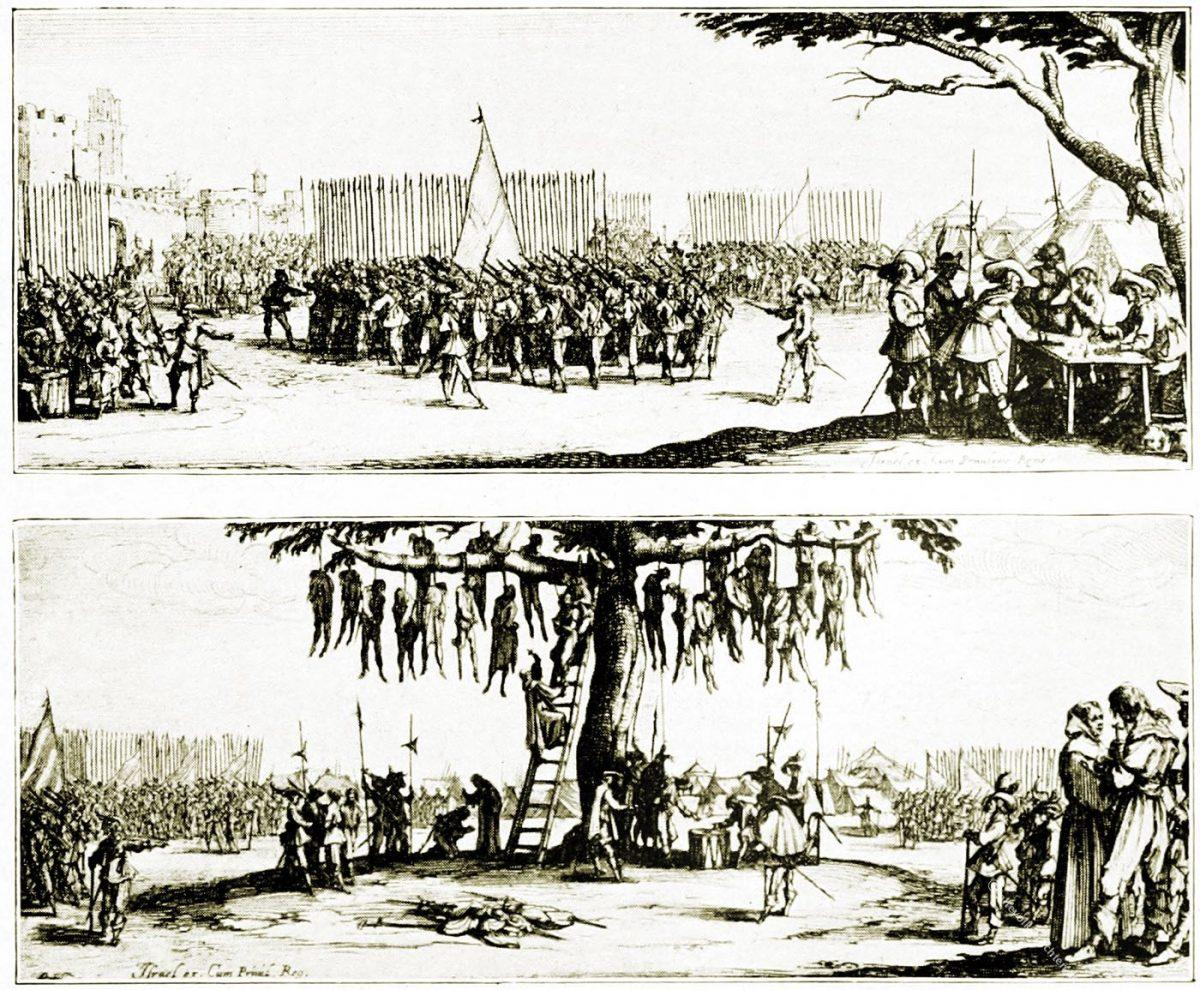 Jacques Callot, Galgenbaum, Soldaten, Dreissigjähriger Krieg