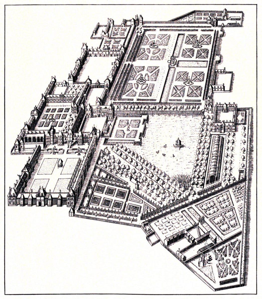 Fontainebleau, Kupferstich, Tommaso Francini, August Grisebach, Thomas Francine