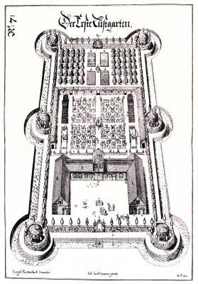 Lustgarten, Kupferstich, Joseph Furttenbach, Renaissance, August Grisebach