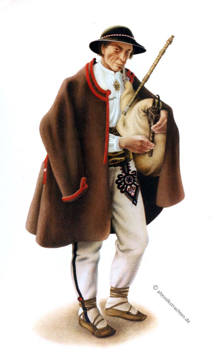 Gorale, Kleidung, Podhalanie, Zakopane, Duddelsack, Polen, Bergbewohner, Highlander, Tracht, POLSKIE, STROJE