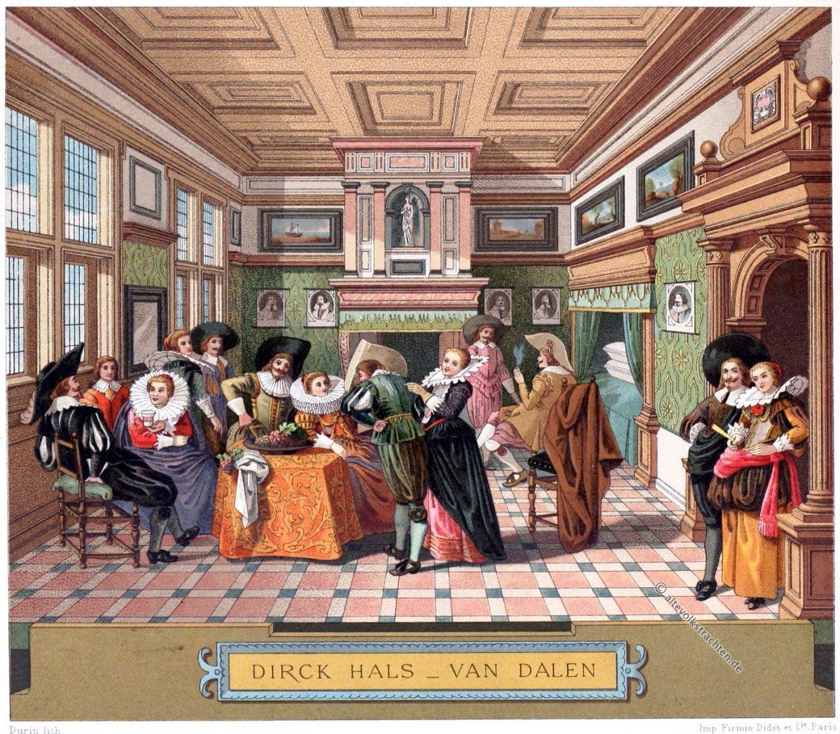 Holland, Niederlande, Barock, Kleidung, Mode, Kostüme, Halskrause, Interieur