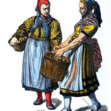 Bäuerinnen Kleidung aus Helsa im 19. Jahrhundert.