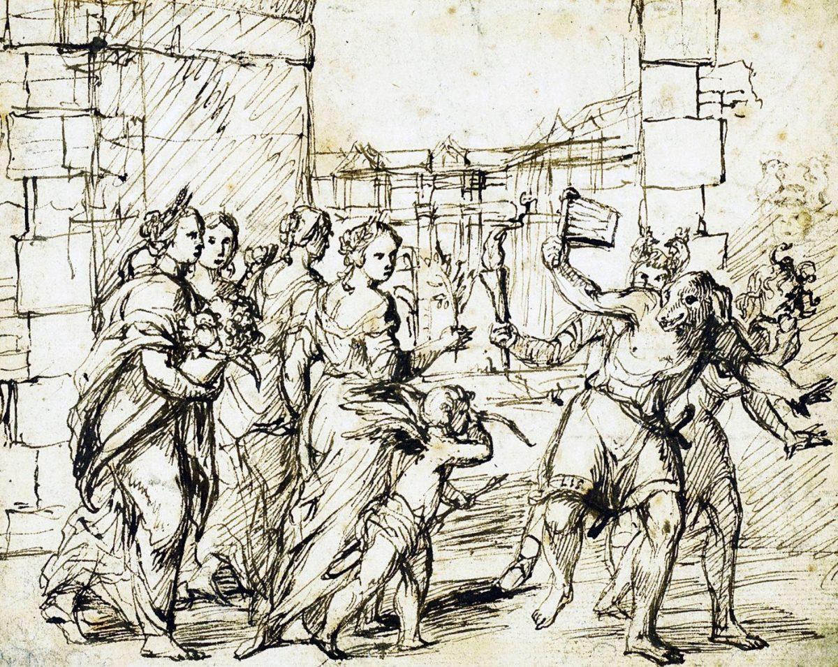 Adam Elsheimer, Luperci, Lupercalian, Festival, Rom, Fruchtbarkeit, Ritus,