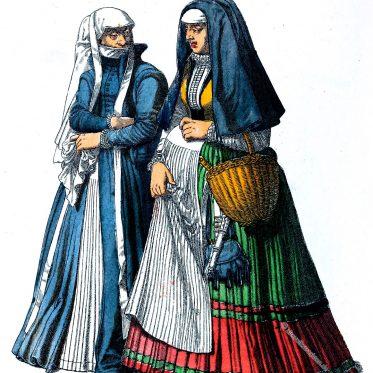 Bürgerliche und Trauerkleidung im 16. Jahrhundert.