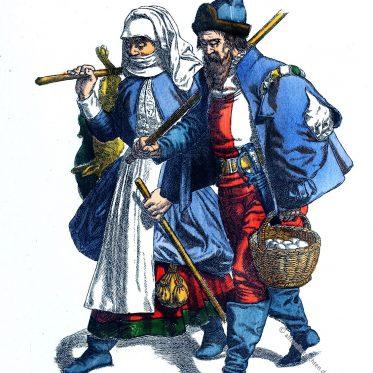 Hessische Bauern im 16. Jahrhundert.