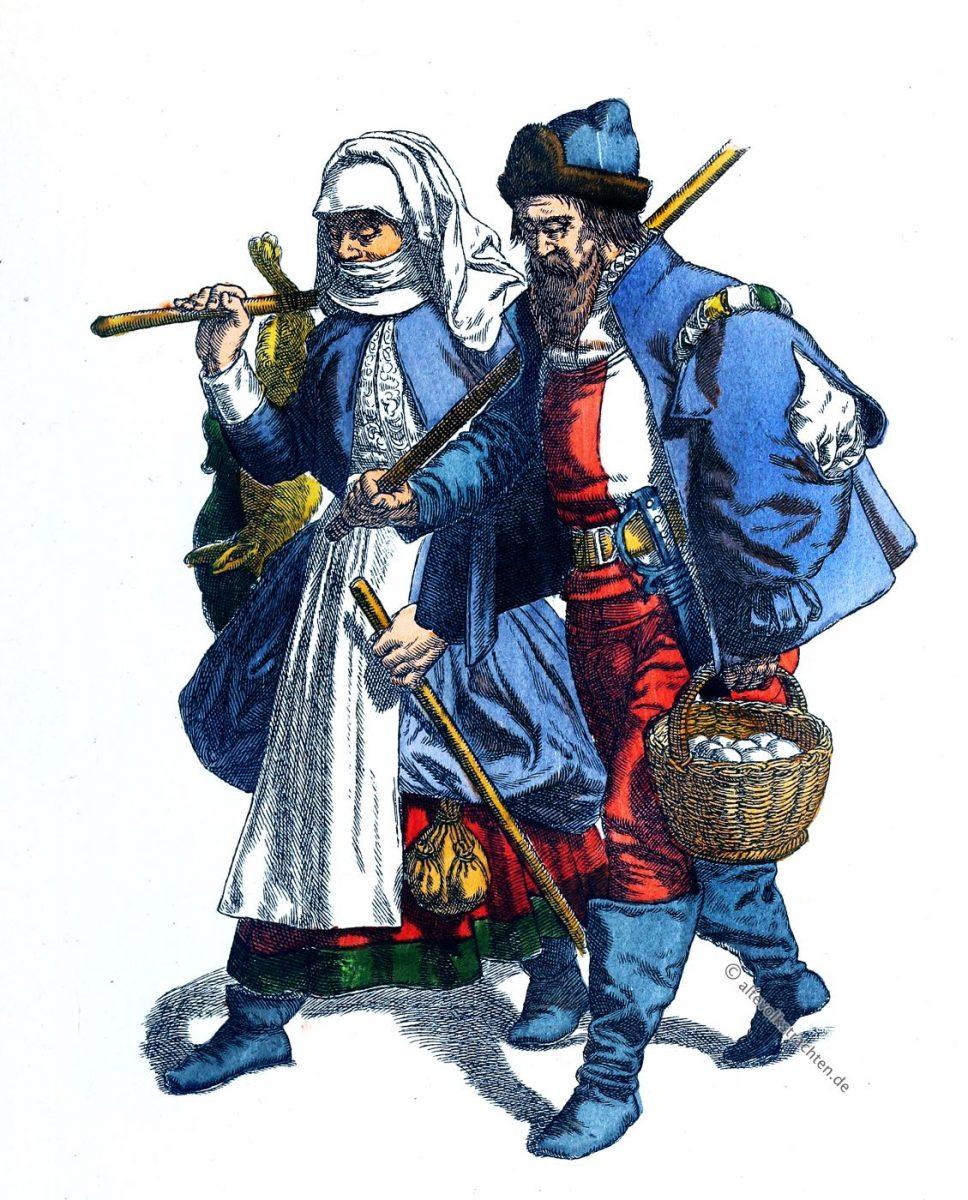 Trachten, Marburg, Renaissance, Bauerntrachten, Kleidung, Friedrich Hottenroth