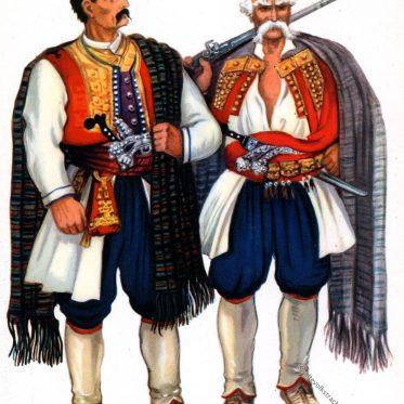 Bewohner in der Tracht von Krivošije, Montenegro.